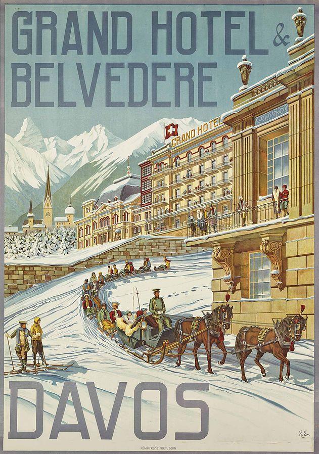 Hans Eggimann - Plakat 'Grand Hotel & Belvedere, Davos' (1905)